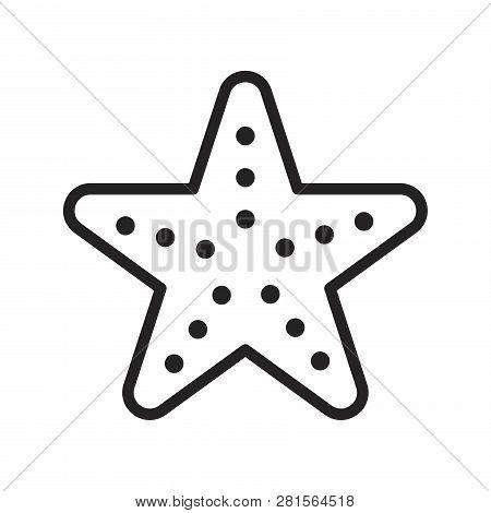 Sea Star Vector Icon On White Background. Sea Star Icon In Modern Design Style. Sea Star Vector Icon