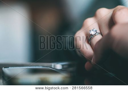 Man Marriage Proposal - Boyfriend Proposing To His Girlfriend To Get Married - Concept Of People Rel