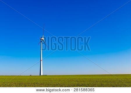 Wind Generator Ecology Concept, Wind Generator, Windmills, Wind Turbine For Electricity, Alternative