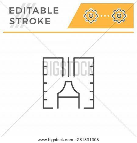 Sealant Line Icon Isolated On White. Editable Stroke. Vector Illustration