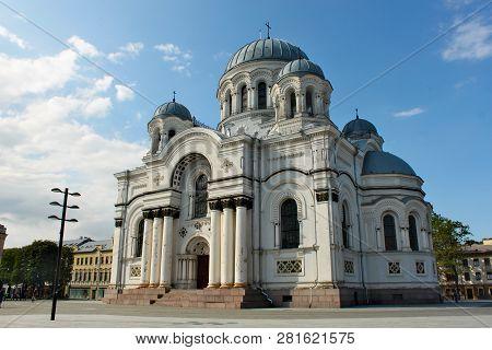 St. Michael The Archangel's Church Or The Garrison Church Is A Roman Catholic Church In Kaunas, Lith