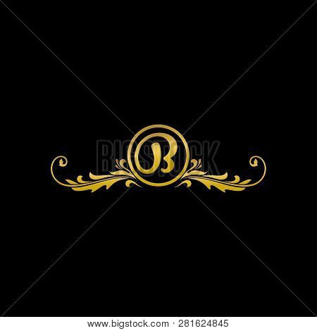 Letter B Luxury Logo, Classic And Elegant Logo Designs For Industry And Business, Boutique Logo, Gol