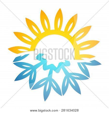 Snowflake And Sun Heating Cooling Air, Conditioning