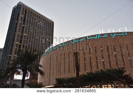 Dubai, Uae - Dec 19: Marina Mall In Dubai, Uae, As Seen On Dec 19, 2018. The Mall Features 140 Retai