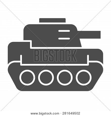 Tank Solid Icon. Panzer Vector Illustration Isolated On White. Armor Glyph Style Design, Designed Fo