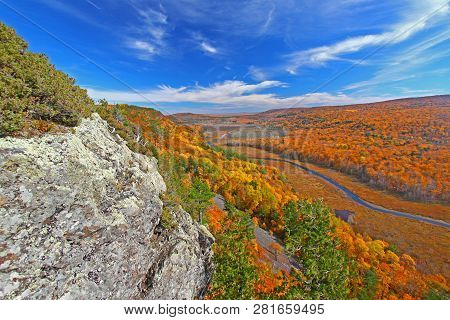 River Valley In Porcupine Mountains Wilderness State Park