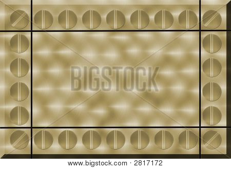 Illustration of a gold brushed metal abstract background poster