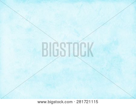Abstract Watercolor Hand Painted Background. Blue Watercolour Texture. Pastel Colored Palette. Light