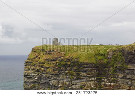 Wild Atlantic Way  O Brien S Tower And The Cliffs Of Moher