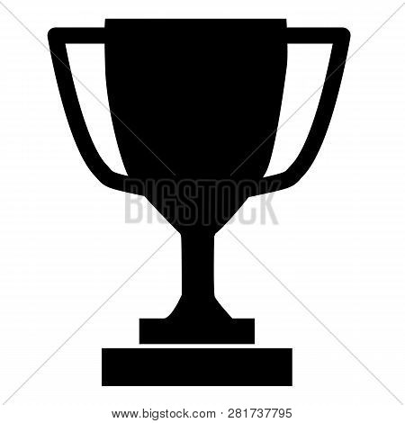 Trophy Icon On Gray Background. Flat Style. Trophy Icon  For Your Web Site Design, Logo, App, Ui. Tr