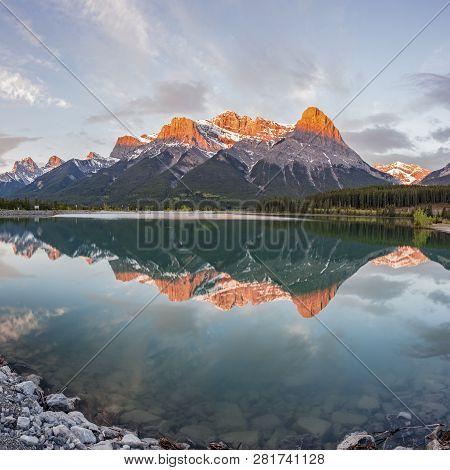 Sunset In Banff National Park. Alberta, Canada.