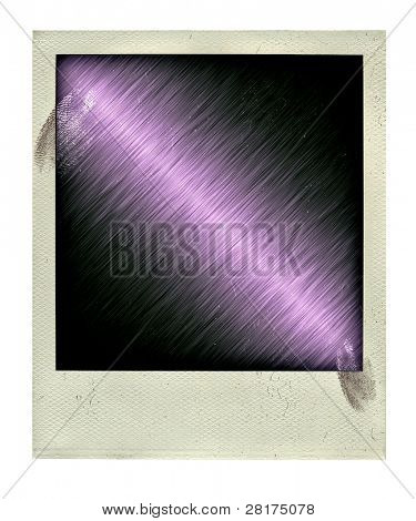 Vintage empy photo with ingerprint isolated on a white background