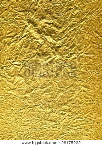 Gold wrapper paper texture to backround