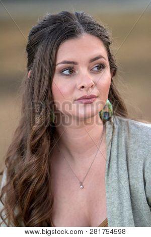 Brunette Model head shot