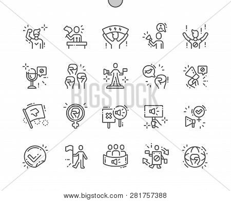 Activist Well-crafted Pixel Perfect Vector Thin Line Icons 30 2x Grid For Web Graphics And Apps. Sim