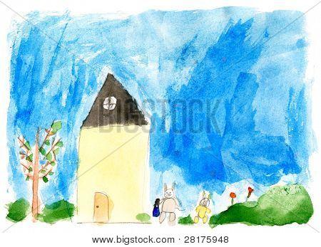 Children's paint house