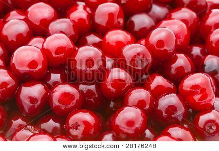 Fresh natural cherry to background