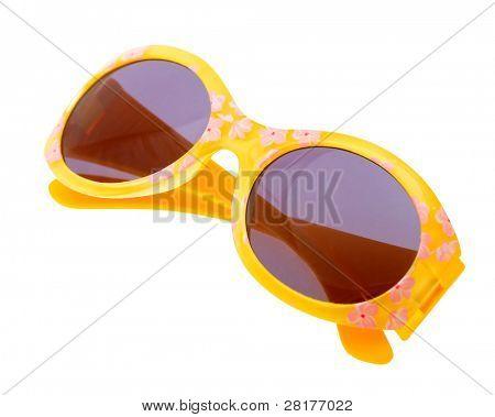 Funny sunglasses isolated on white background