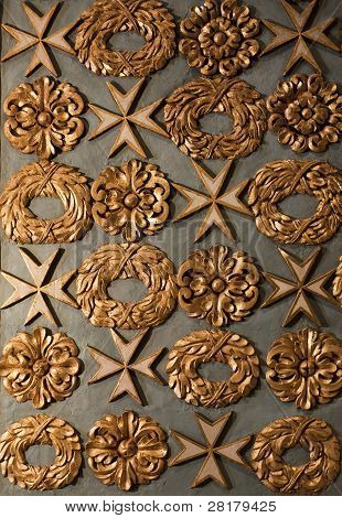 Baroque Ornamentation Of A Cathedral