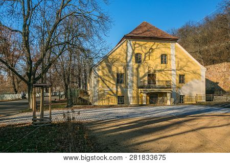 Prague, Czech Republic / Europe - January 31 2019: Löwit Mill House From Liben District, Historical