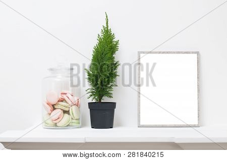 Decorative Flower And An Empty Frame