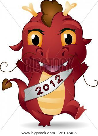 Illustration of a Dragon Representing the New Year