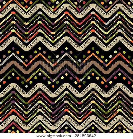 Abstract Zigzag Pattern For Cover Design. Vector