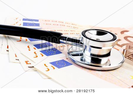 Stethoscope On Banknote