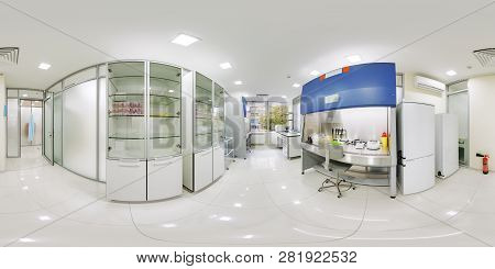 Equidistant Scan 360 Panoramas Of The Laboratory Of The Clinic Of Problems Of Human Diseases. Panora