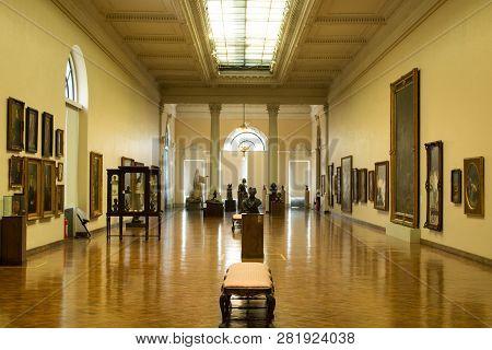 Rio De Janeiro, Brazil - October 10, 2018: The Museu Nacional De Belas Artes (mnba; Portuguese For N