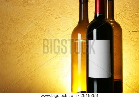 Wine Bottles With Space For Text