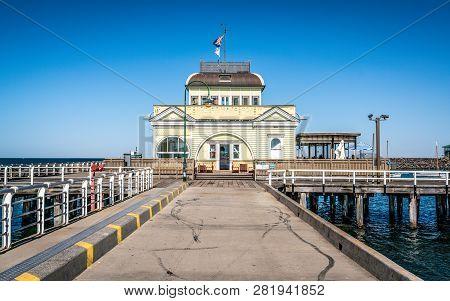 St Kilda Pavilion An Historic Kiosk Located At The End Of Saint Kilda Pier In Melbourne Victoria Aus