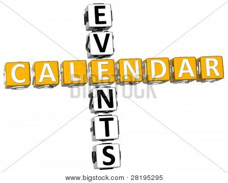 3D Callendar Events Crossword