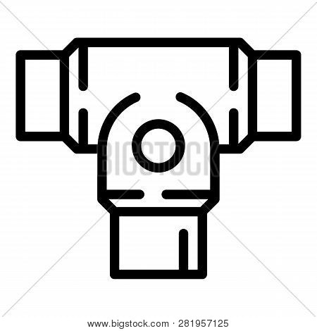 Rigid Clamp Icon. Outline Rigid Clamp Vector Icon For Web Design Isolated On White Background