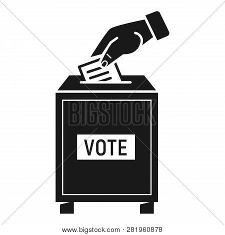 Voting Hand Icon. Simple Illustration Of Voting Hand Vector Icon For Web Design Isolated On White Ba