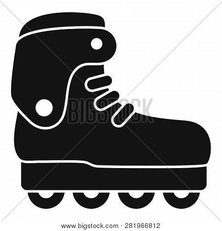 Carbon Inline Skates Icon. Simple Illustration Of Carbon Inline Skates Vector Icon For Web Design Is