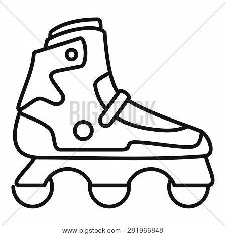 Indoor Inline Skates Icon. Outline Indoor Inline Skates Vector Icon For Web Design Isolated On White