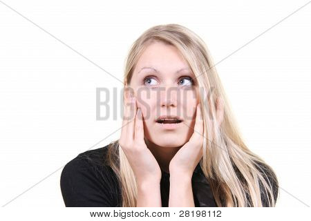 Woman With Surprised Face Expression