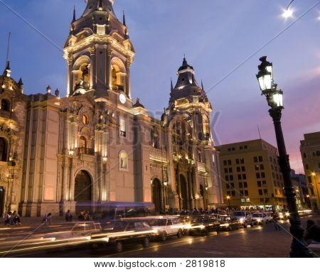 Catedral On Plaza De Armas Plaza Mayor Lima Peru