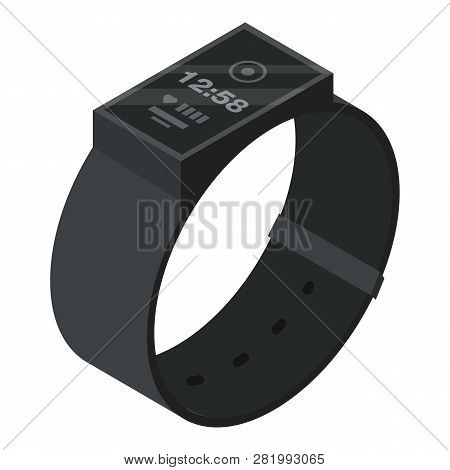 Smart Band Gadget Icon. Isometric Of Smart Band Gadget Vector Icon For Web Design Isolated On White