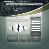 Business website template, vector poster
