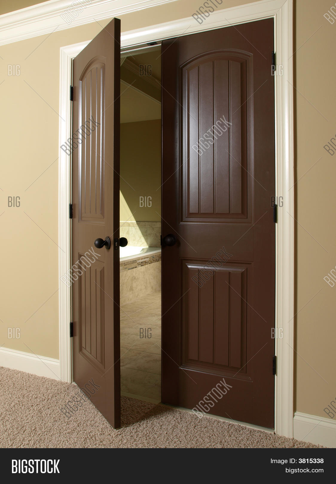 open double door image  photo free trial  bigstock