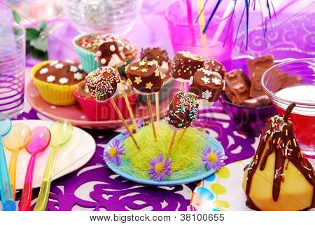 Colorful Birthday Party Table For Child