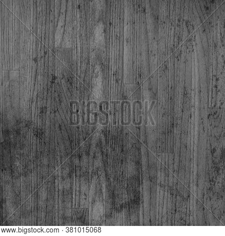 Black And White Distressed Wood Floor For Backgrounds And Texture Design Element.