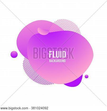 Fluid Blod Shape. Vector Abstract Modern Graphic Element. Memphis Liquid Gradient Splash. Vivid Grad