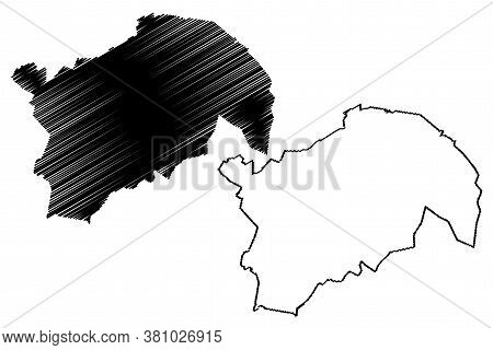 Guatemala City (republic Of Guatemala) Map Vector Illustration, Scribble Sketch City Of New Guatemal