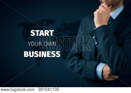 Start Your Own Business Concept. Unemployed Manager Due To Coronavirus Crisis Take The Opportunity A