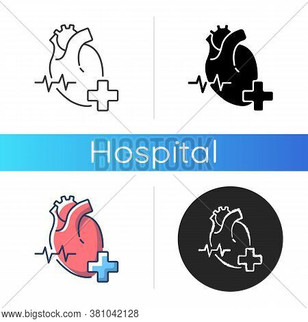 Cardiology Department Icon. Cardiologist. Cardiology Consultant. Heart Disease Treatment. Medical Di