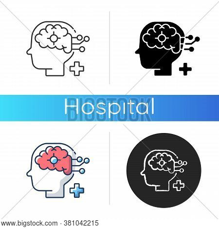 Neurological Department Icon. Neurological Science And Surgery. Brain Disorders. Neurology Disease D