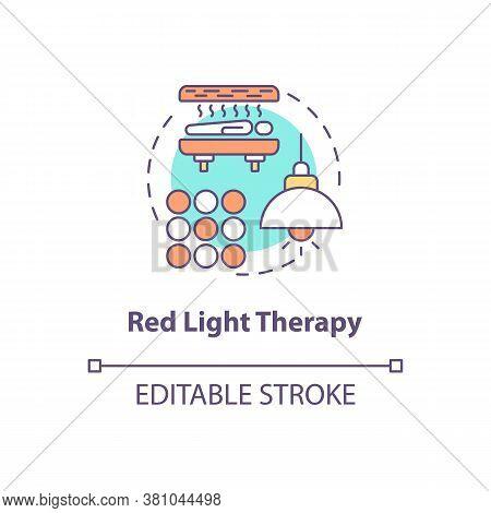 Red Light Therapy Concept Icon. Biohacking Technique, Alternative Medicine Idea Thin Line Illustrati